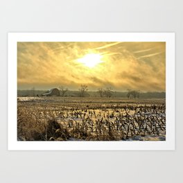 Overcast Sunrise 2 Art Print