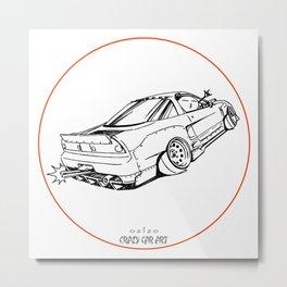 Crazy Car Art 0191 Metal Print
