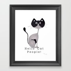 Hello Cat People Framed Art Print