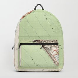 Venice, CA from 1934 Vintage Map - High Quality Backpack