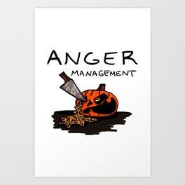 Halloween Anger Management Art Print