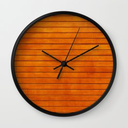 The Wooden Wall Wall Clock