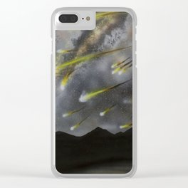Meteors in the Sky Clear iPhone Case