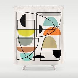 """Mid Century Modern """"Bowls"""" Shower Curtain"""