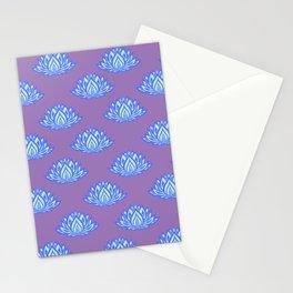 Lotus Pattern Violet/Lila Stationery Cards