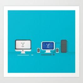 Apple iMac + PC Art Print