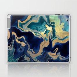 DRAMAQUEEN - GOLD INDIGO MARBLE Laptop & iPad Skin
