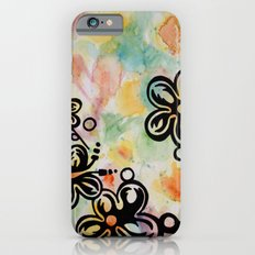 tropical flowers iPhone 6s Slim Case