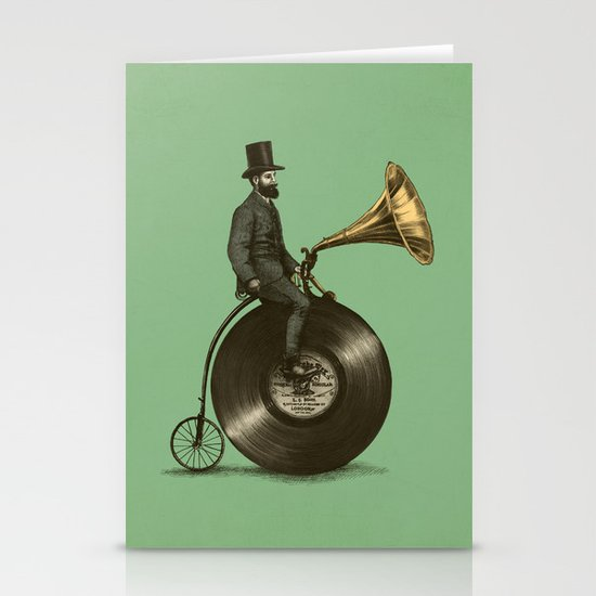 Music Man (Green Option) Stationery Cards