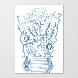 Hipster Sailor Canvas Print