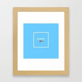 aesthetic done Framed Art Print
