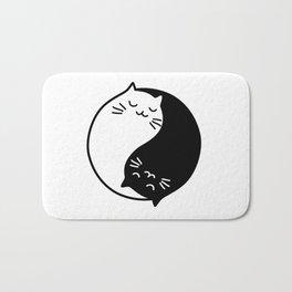 Yin Yang Cats Bath Mat