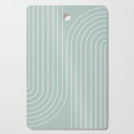 Minimal Line Curvature - Sage Cutting Board