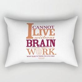 Sherlock Holmes novel quote – brain work Rectangular Pillow