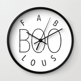 Fab-BOO-los (wite background) Wall Clock