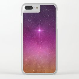 The Colorful Space I Clear iPhone Case