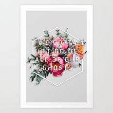 Flower Typography Art Print