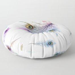 Peacock Dancer Floor Pillow