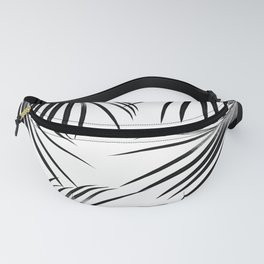 Black Palm Leaves Dream #2 #tropical #decor #art #society6 Fanny Pack