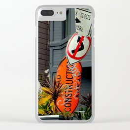 That's The Signpost Up Ahead... Clear iPhone Case