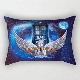 The Angel with Tardis Rectangular Pillow