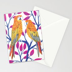 Yellow Parrots Stationery Cards
