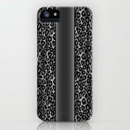 Gray and Black Jaguar Animal Print Pattern iPhone Case