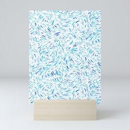Dashed Waves Mini Art Print