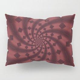 Tess Fractal in Rosewood Pillow Sham