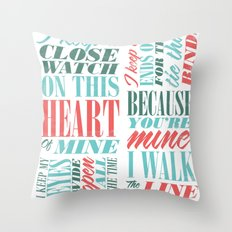 Walk the Line Throw Pillow
