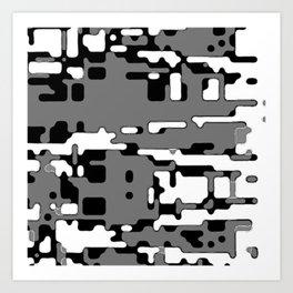 jitter, b&w 8 Art Print