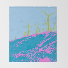 Palm Springs Wind Farm, California Throw Blanket