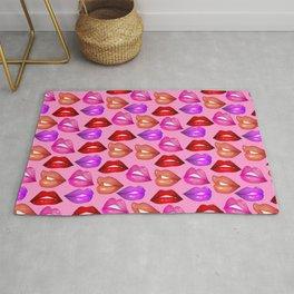 Glossy Lips Pattern Rug