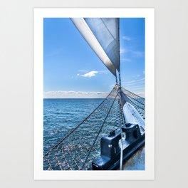 Sailing away to your dreams Art Print