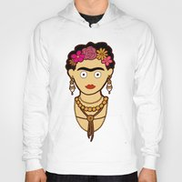 frida kahlo Hoodies featuring Frida Kahlo by evannave
