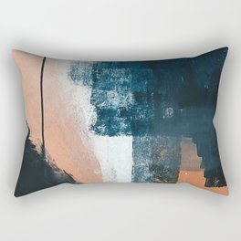 Vienna: a minimal, abstract mixed-media piece in pinks, blue, and white by Alyssa Hamilton Art Rectangular Pillow