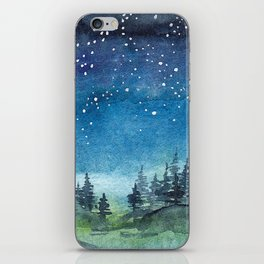 Starry Night over Forest iPhone Skin