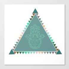 Merkaba Triangle Green Canvas Print