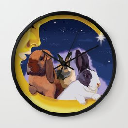 Once Upon A Moon Wall Clock