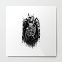 Black Swordsman Metal Print