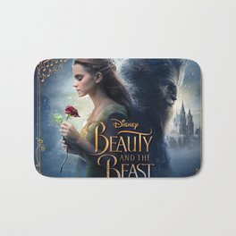 beauty and the beast poster Bath Mat