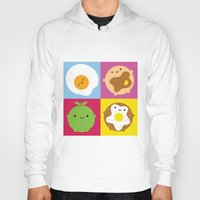 kawaii Hoodies featuring Kawaii Breakfast by Marceline Smith