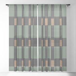 Dark Deco #society6 #decor #buyart Sheer Curtain