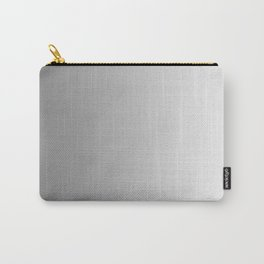 Gray to White Vertical Linear Gradient Carry-All Pouch