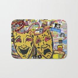 Broadway Theatre Masks Collage Bath Mat
