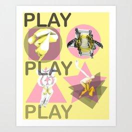 Play. (A) Art Print