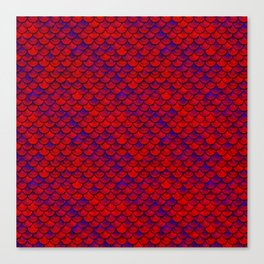 Red Purple Scales Canvas Print