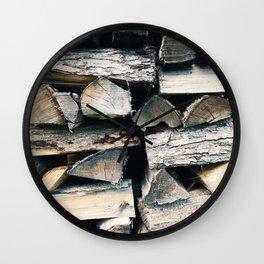 Woodpile II Wall Clock