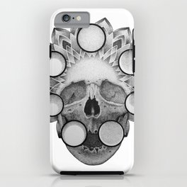 Dotwork Skull Mandala iPhone Case