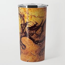 Fighting Rhinos // Chauvet Cave Travel Mug